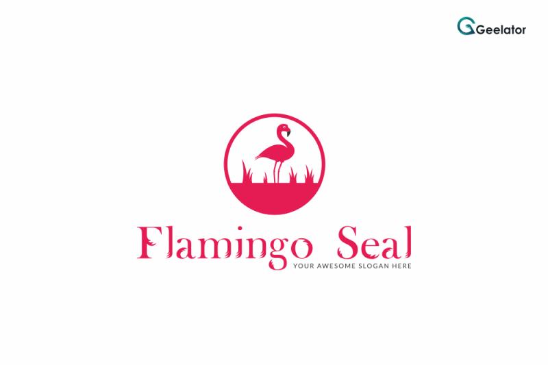 flamingo-seal-logo-template