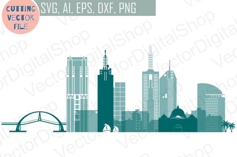 melboutne-vector-australian-skyline-svg-png-jpg-eps-ai-dxf