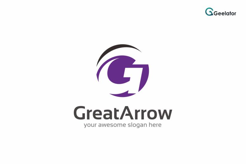 letter-g-great-arrow-logo-template