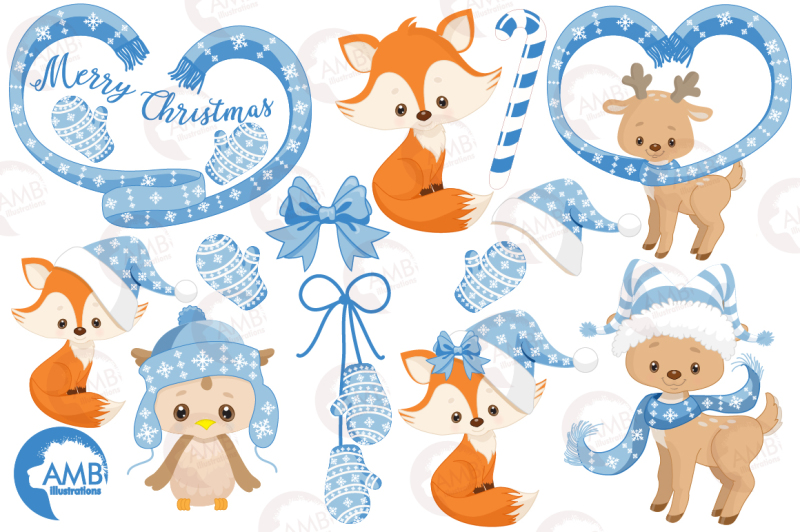 christmas-critters-in-blue-clipart-graphics-illustrations-amb-1515