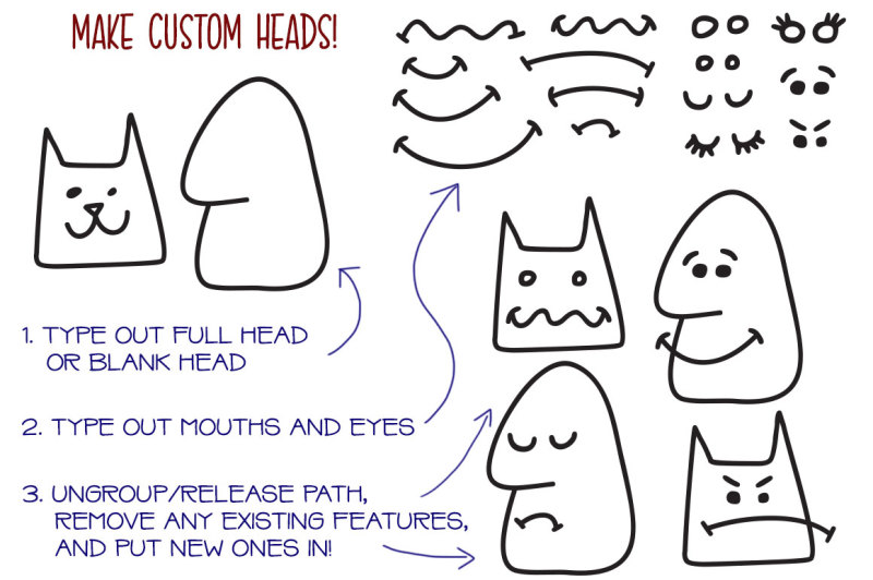 kookyheads-a-dingbat-doodle-font