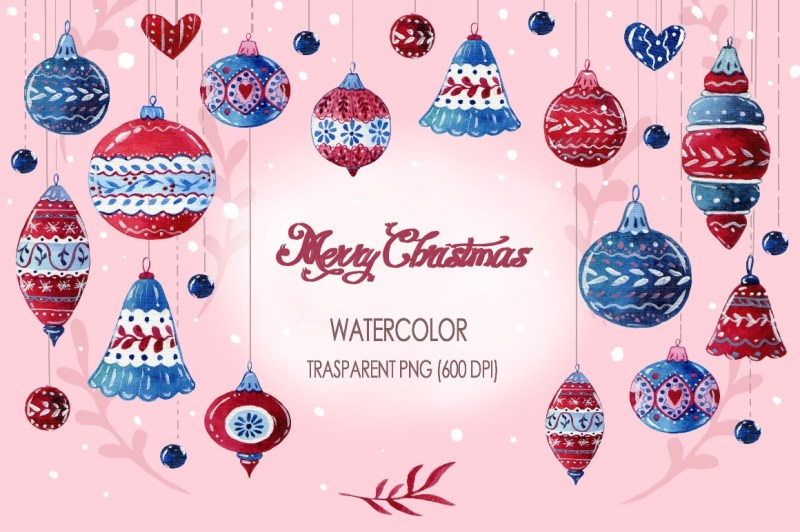 merry-christmas-watercolor-collection