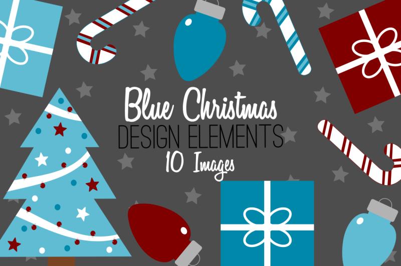 blue-christmas-design-elements-clip-art