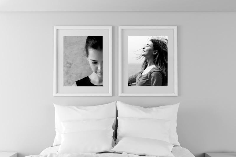 Free Bedroom, Portrait Landscape Frame (PSD Mockups)