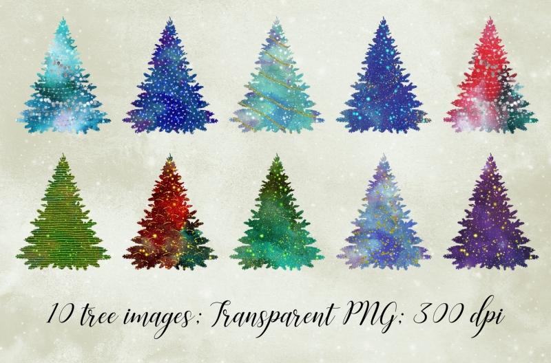 glitter-christmas-trees
