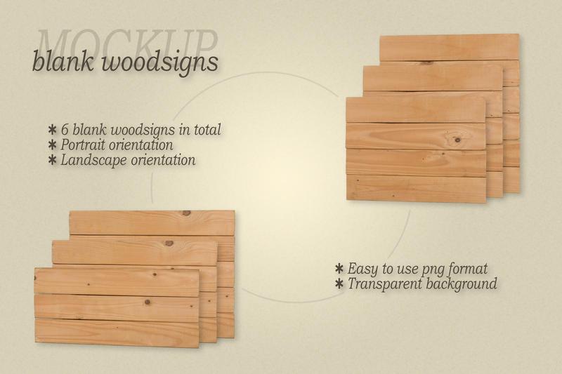Free Mockup frameless blank woodsigns (PSD Mockups)