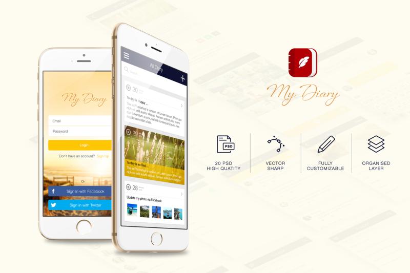 my-diary-ui-mobile-kit