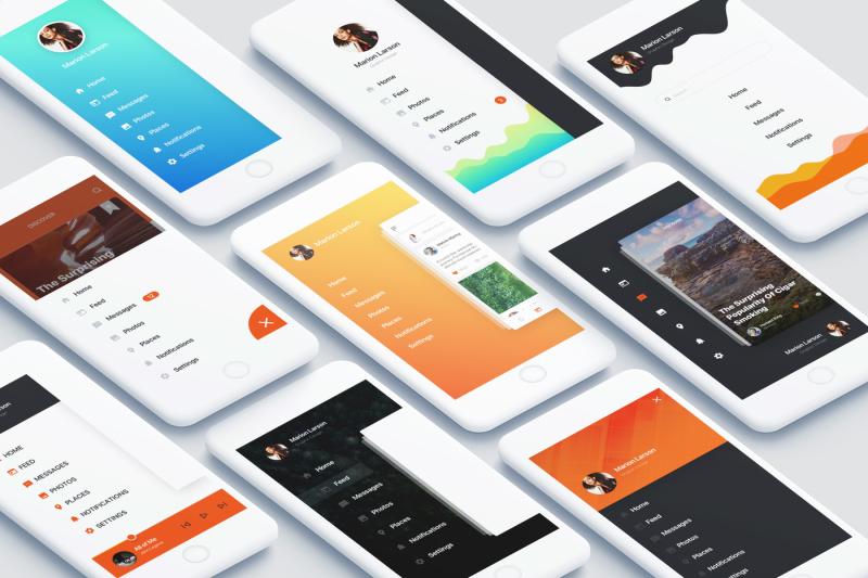 navigation-mobile-app-ui-kit