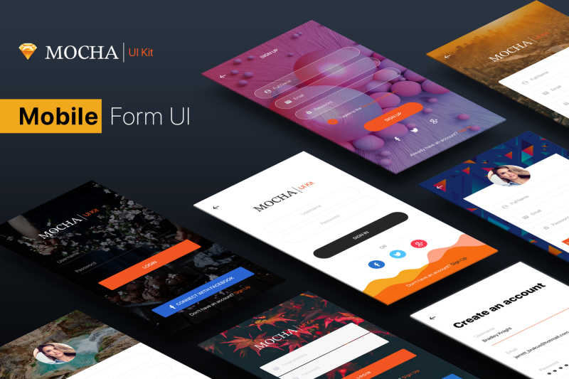 signup-login-mobile-form-ui-kit