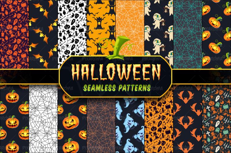 halloween-seamless-patterns-set-1