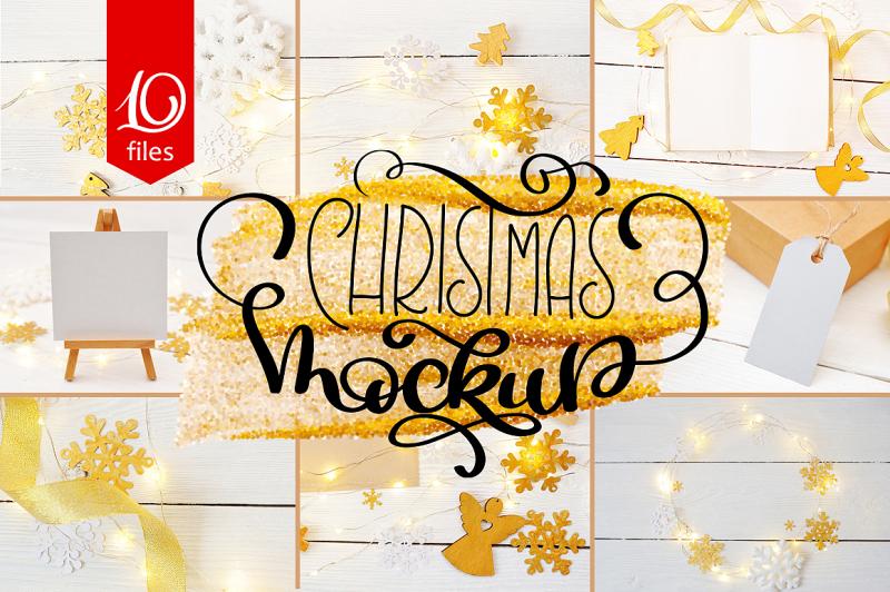 Free Christmas Mock Up Photos Collection 2 (PSD Mockups)
