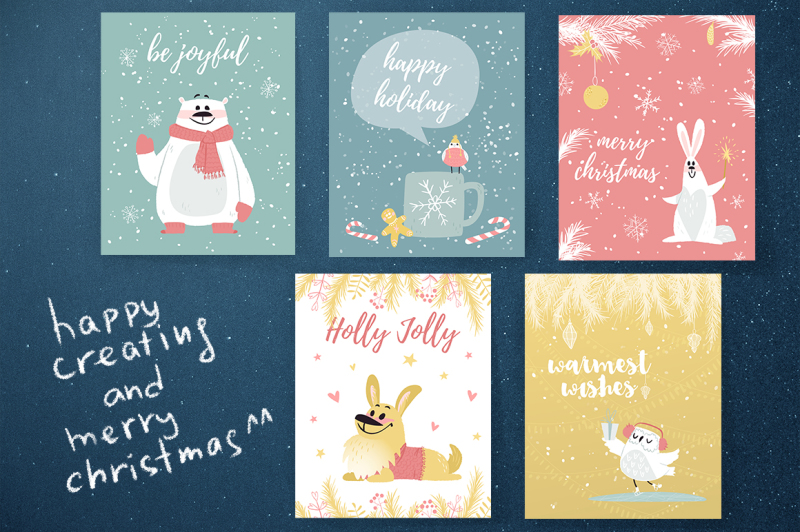 hello-christmas-vector-set