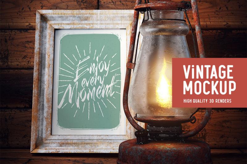 Free Old Lamp Mockup (PSD Mockups)