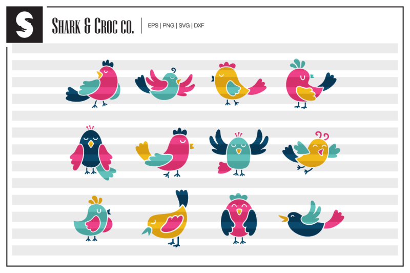 colorful-birds-cut-files