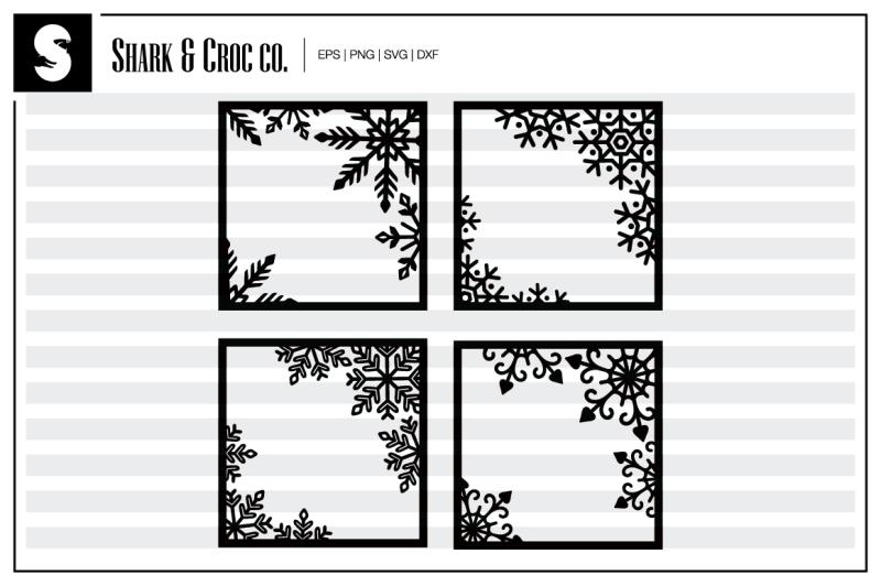 snowflake-frame-cut-files