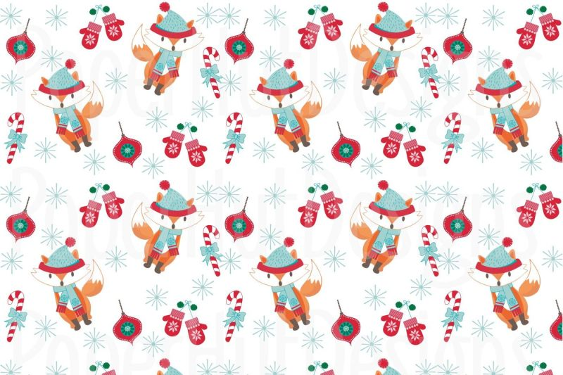 animal-christmas-clipart-and-digital-paper-set