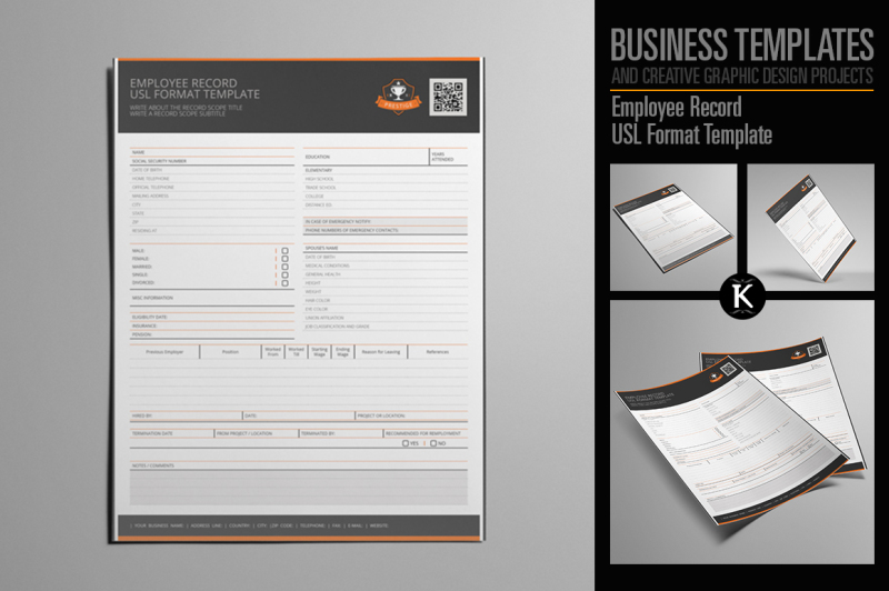 employee-record-usl-format-template