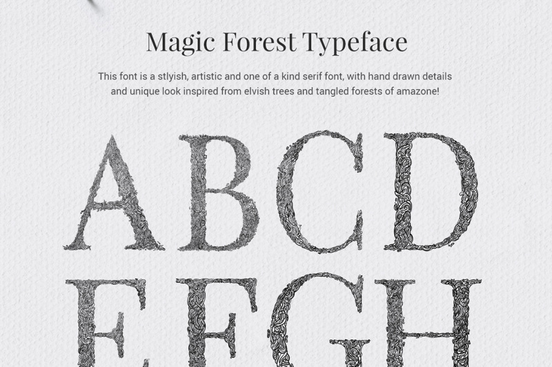 magic-forest-typeface