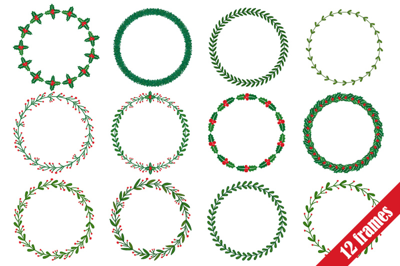christmas-wreath-and-brushes