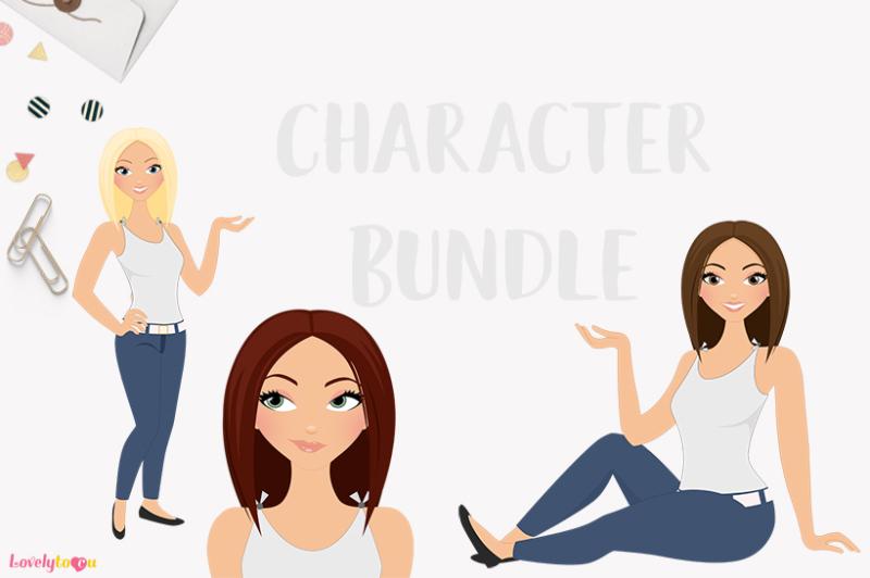 woman-character-bundle-set-lisa-lb11