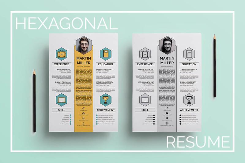 hexagonal-resume