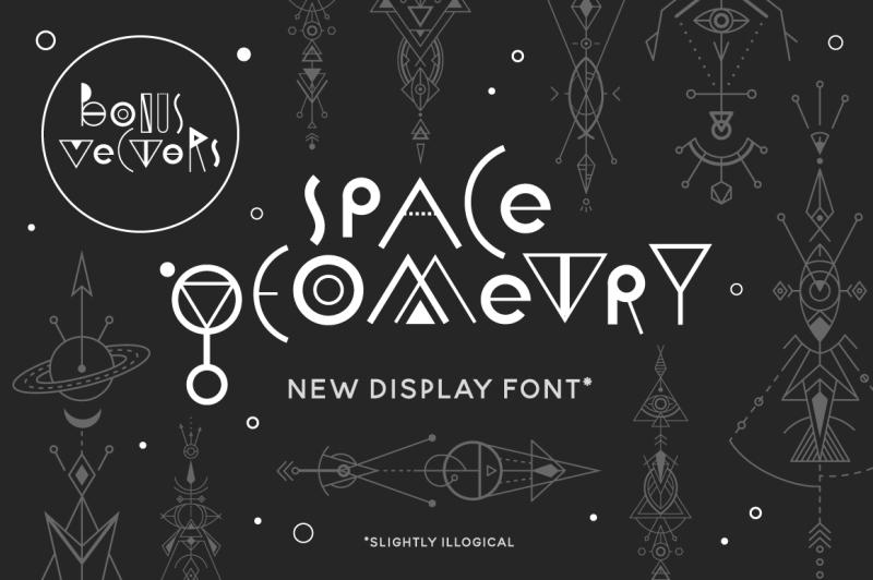 space-geometry-font-vector-bonuses