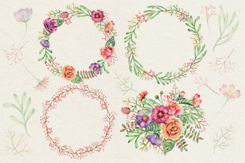watercolor-flower-vector-collection