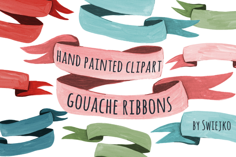 hand-painted-gouache-ribbons-banners