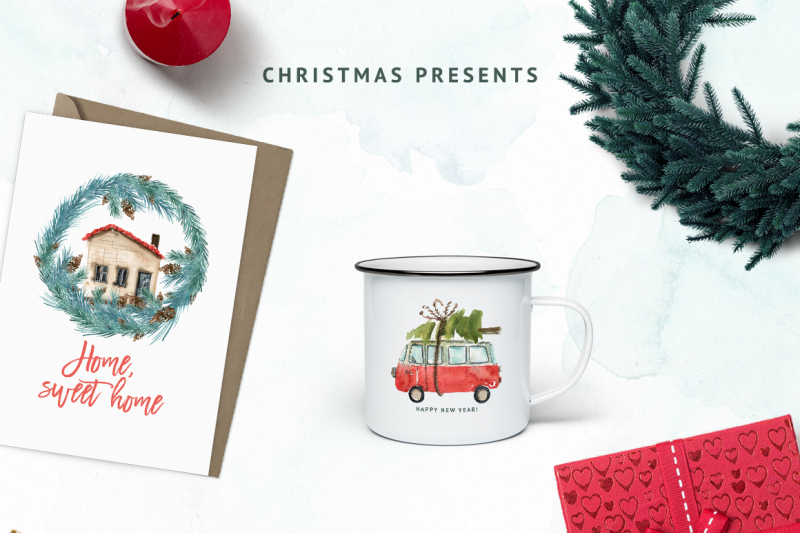 watercolor-christmas-on-wheels