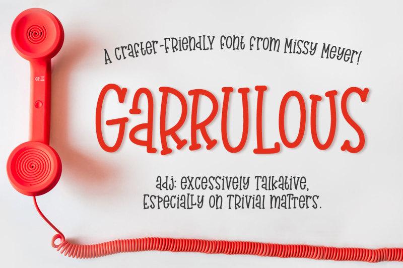 garrulous-a-fun-tall-serif-font