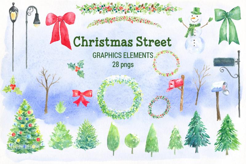 watercolor-christmas-street