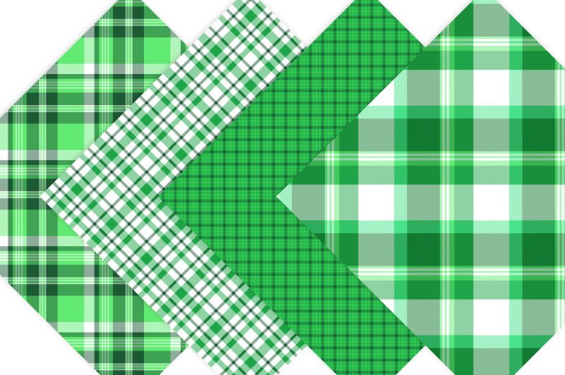 green-plaid-digital-papers