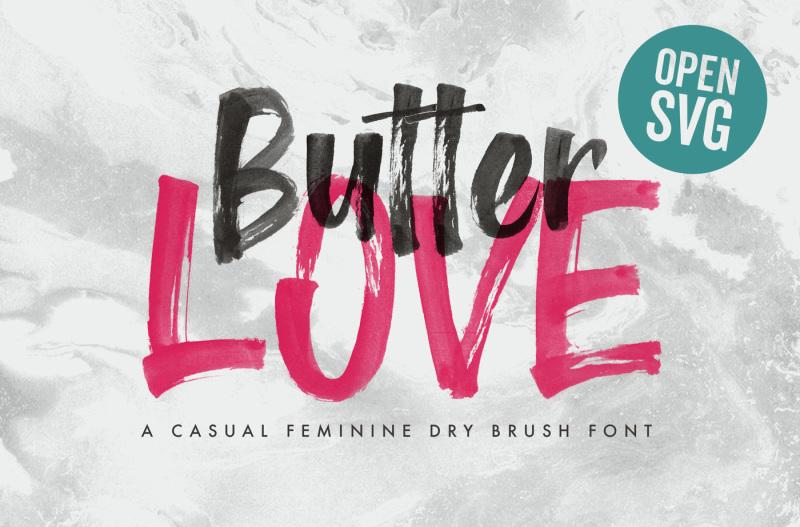 butter-love-opentype-svg-dry-brush