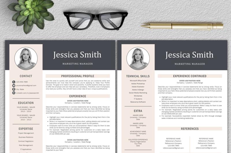 resume-template-cv-template-professional-resume-modern-cv-lebenslauf
