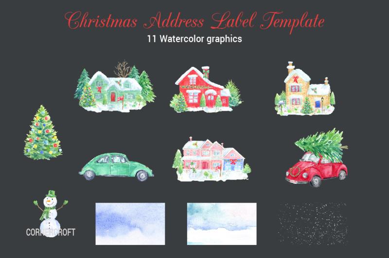 christmas-address-label-template