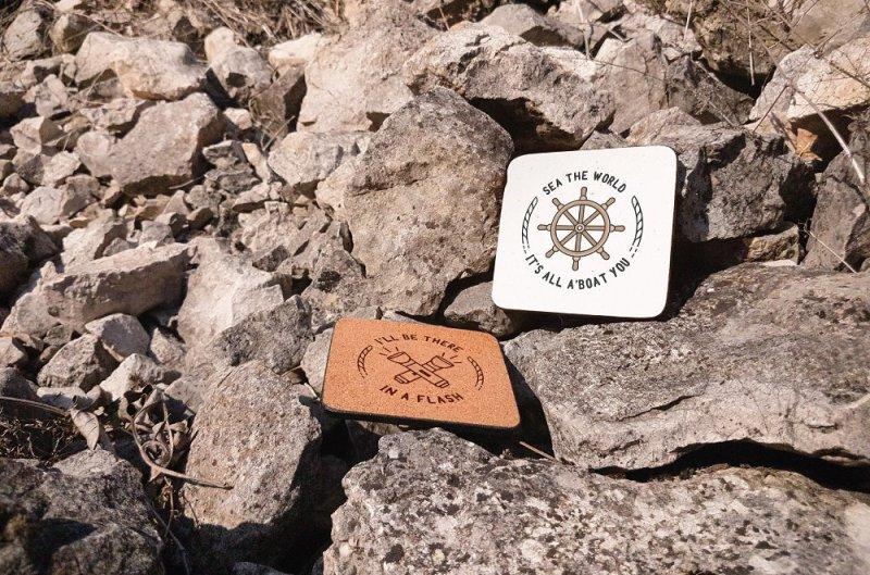 Free Mockup - Coasters Rock (PSD Mockups)