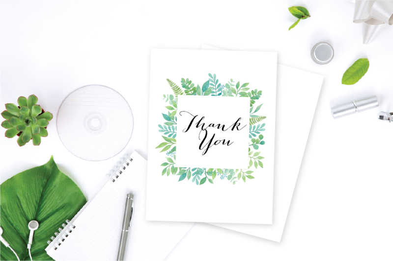 watercolor-greenery-collection