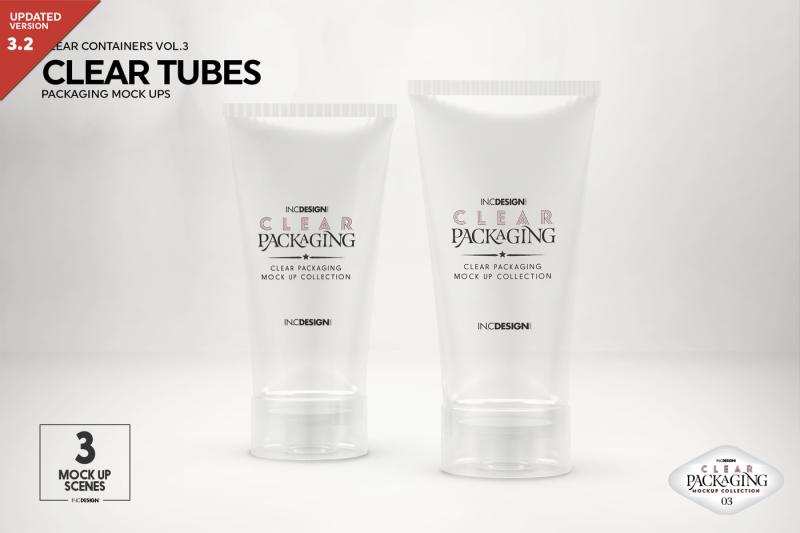 Free Clear Cosmetic Tube Mockups (PSD Mockups)
