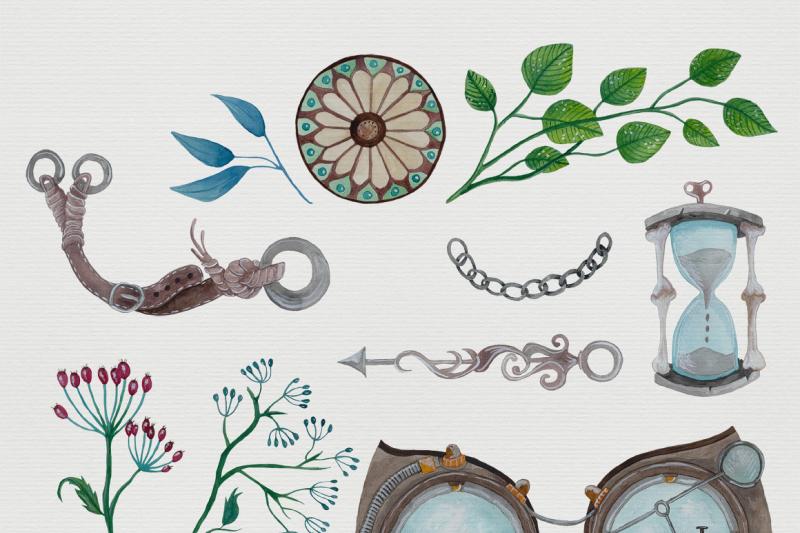 watercolor-steampunk-graphics