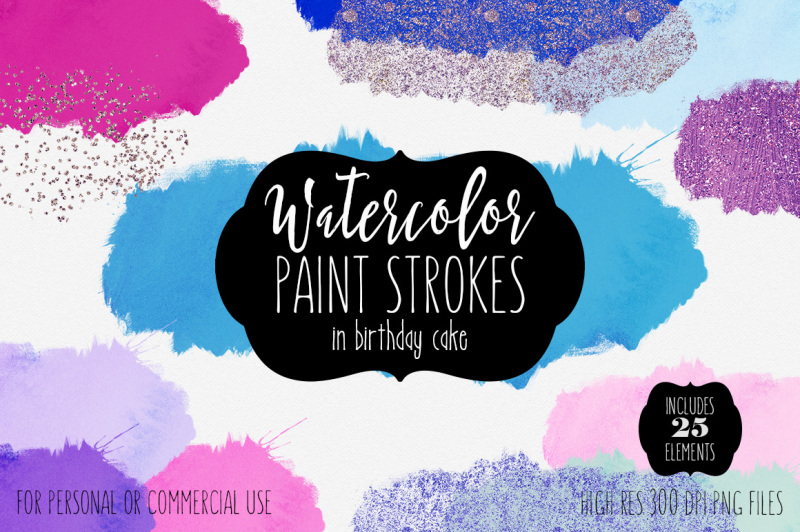 watercolor-paint-strokes-splatters-in-birthday-cake-color-palette