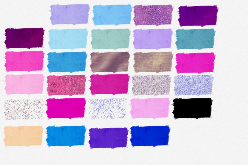 vivid-watercolor-paint-stroke-swatches-in-purple-and-pinks