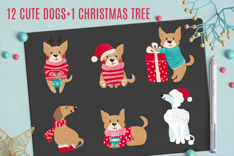 cute-dogs-for-christmas-and-new-year