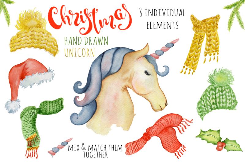 christmas-unicorn-watrcolor-creator
