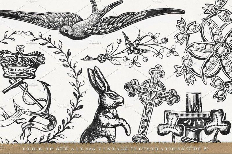 156-misc-vintage-illustrations-pack