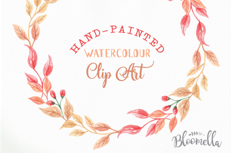 watercolour-autumn-fall-wreaths-clipart-harvest-festival-leaves-hand-painted-garlands-clip-art-instant-download-pngs-berries-digital-leaf