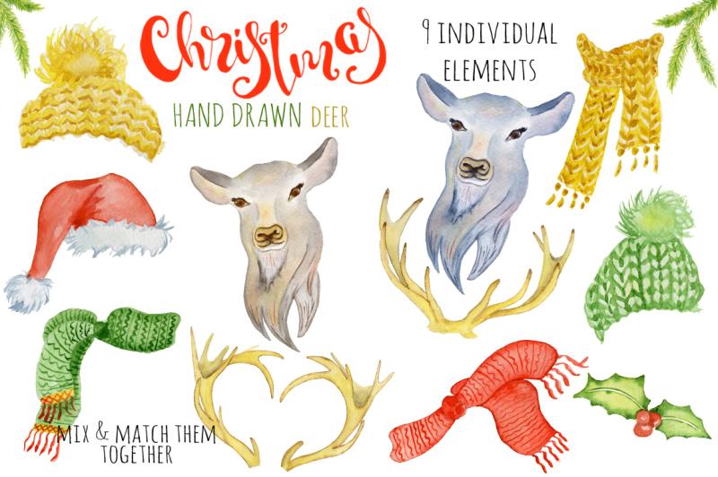 christmas-deer-watercolor-creator