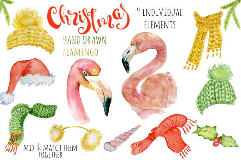 christmas-pink-flamingo-watercolor-creator
