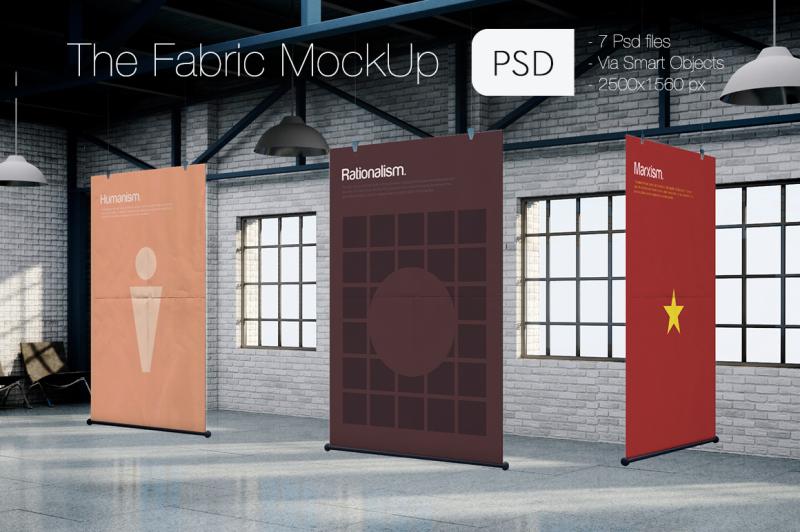 Free The Fabric MockUp (PSD Mockups)