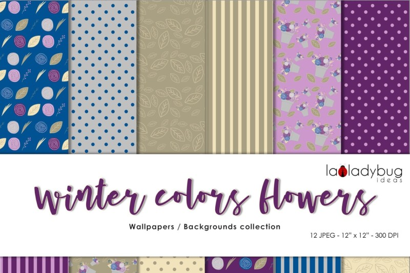 winter-colors-flowers-clip-art-and-patterns-set