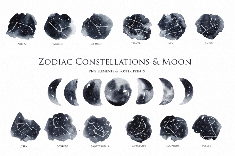 zodiac-constellations-and-moon-clipart